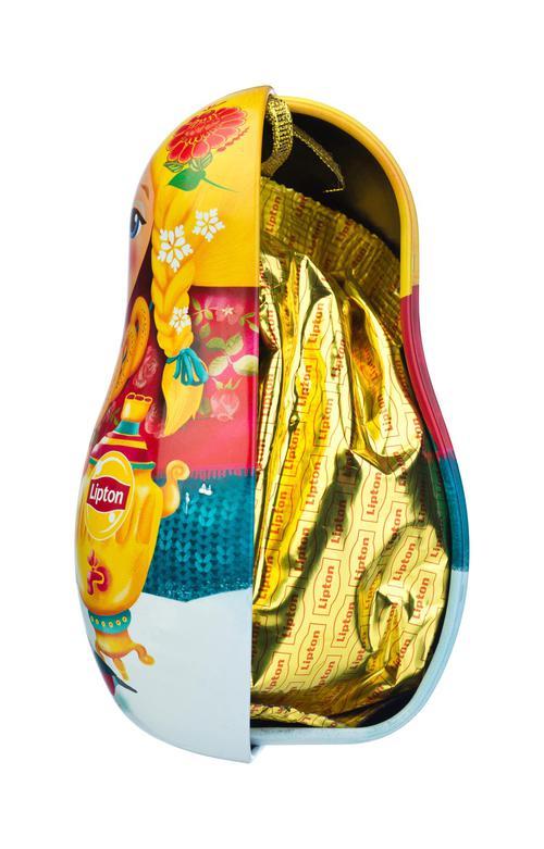 стоимость Набор Lipton «Новогодняя игрушка-матрешка» с листовым чаем