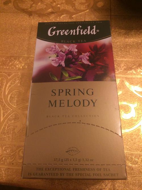 фото9 Чай черный байховый Гринфилд Спринг Мелоди в пакетиках