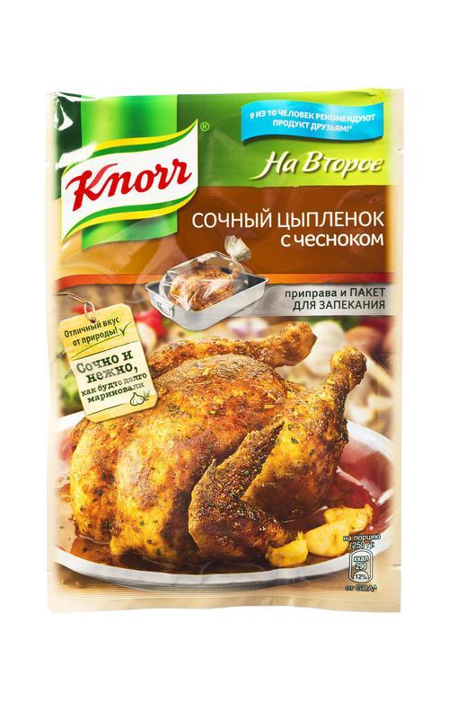 """отзыв Сухая смесь """"Кнорр"""" для сочного цыпленка с чесноком 29г."""