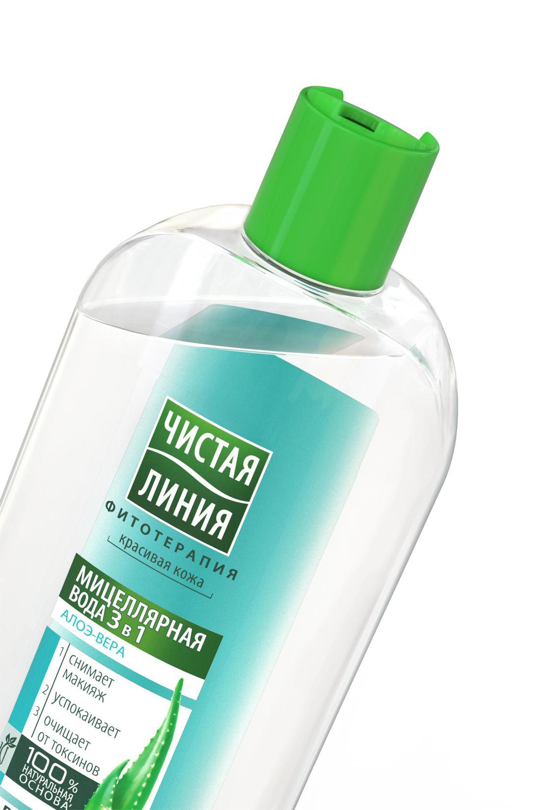 """отзыв Мицеллярная вода """"Чистая Линия"""" 3в1, Для нормальной и комбинированной кожи, 400 мл."""
