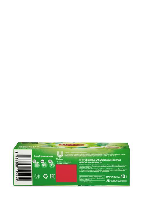 цена Lipton зеленый чай Oriental Sencha с ароматом личи и розы 25 пакетиков