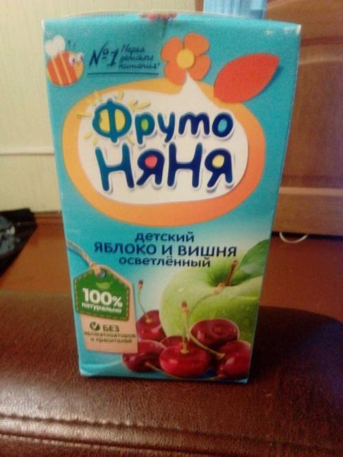 отзыв Нектар яблочно-вишневый осветленный для питания детей дошкольного и школьного возраста