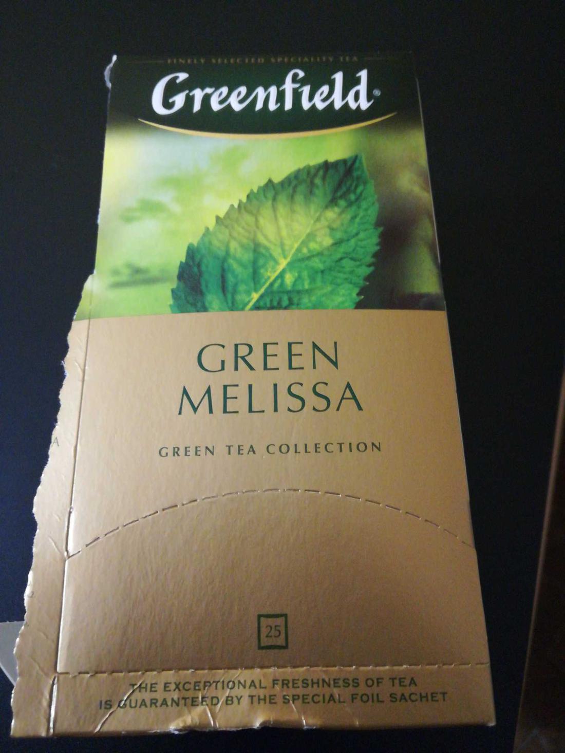 фото2 Чай зеленый байховый Гринфилд Грин Мелисса в пакетиках