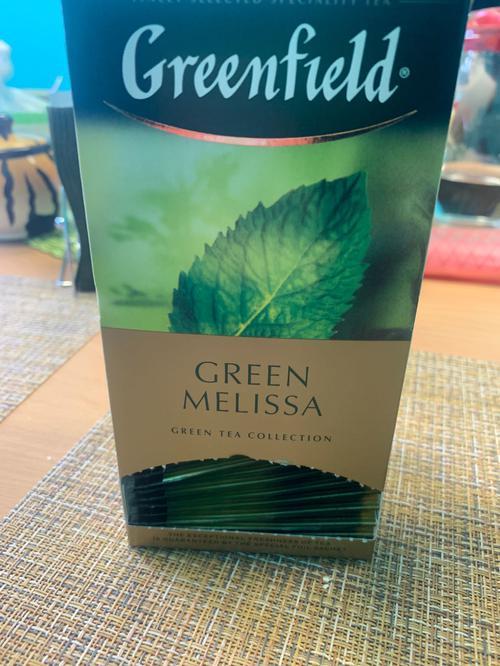 цена Чай зеленый байховый Гринфилд Грин Мелисса в пакетиках