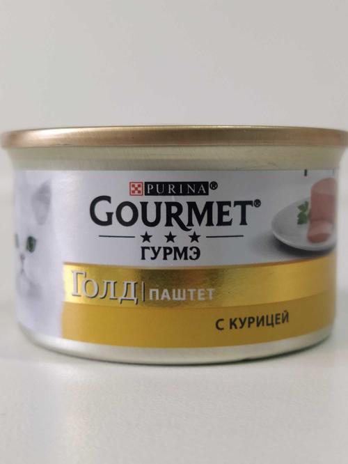"""Корм для кошек """"Gourmet"""" паштет с курицей, 85 г."""