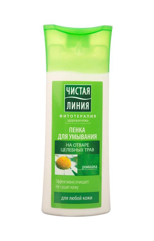 цена Пенка для умывания чистая линия для любой кожи на отваре целебных трав (новая рецептура)