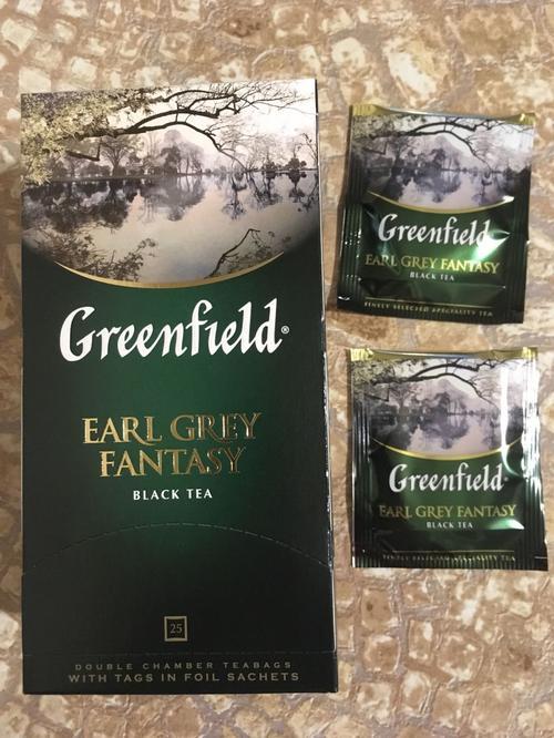 цена Чай черный байховый Гринфилд Эрл Грей Фэнтази в пакетиках
