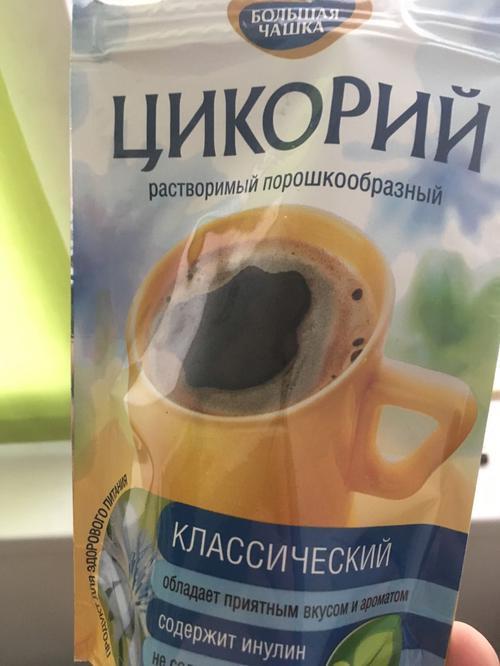 """описание Цикорий """"Большая чашка"""" классический натуральный растворимый"""