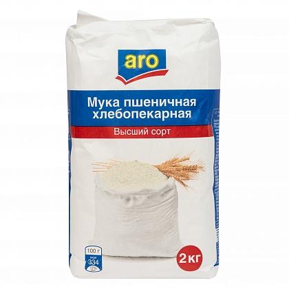Мука пшеничная хлебопекарная «ARO» высший сорт