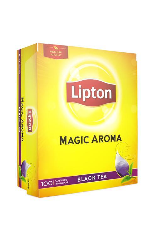 цена Чай черный байх ароматизрованный lipton magic aroma 12х100пакх2г
