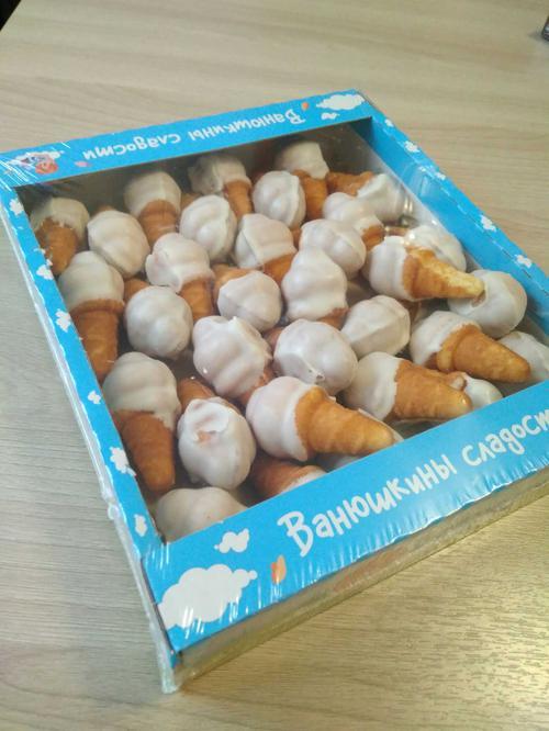 Мороженка в белой глазури 0,380 (лоток№7) Печенье сдобное в белой глазури