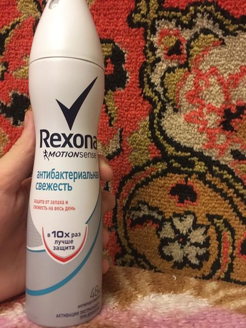 фото10 Rexona Motionsense антиперспирант аэрозоль Антибактериальная свежесть, 150 мл