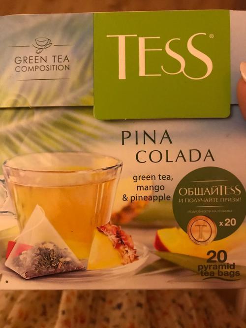 Чай зеленый байховый Тесс Пина Колада в пакетиках