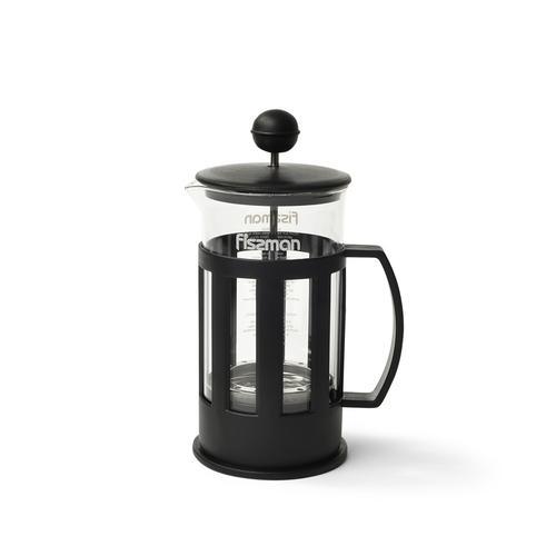 Чайник заварочный CAMELLIA 350мл с поршнем, цвет Черный (стеклянная колба)