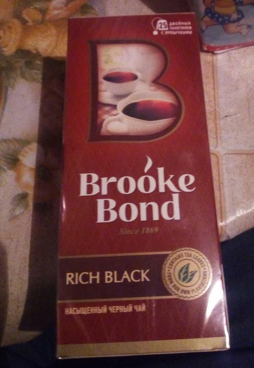 фото3 Чай черный brooke bond байховый, 25 пакетиков х 1,8г.