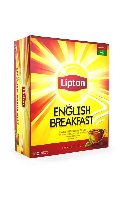 Чай черн байховый lipton english breakfast 12x100пакx2г