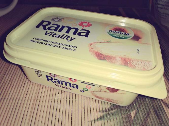 """фото Спред растительно-жировой """"Rama Vitality"""" с комплексом A, D, E 250 г"""