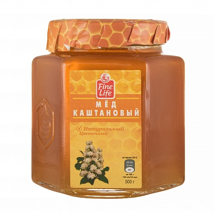 Мёд натуральный цветочный каштановый
