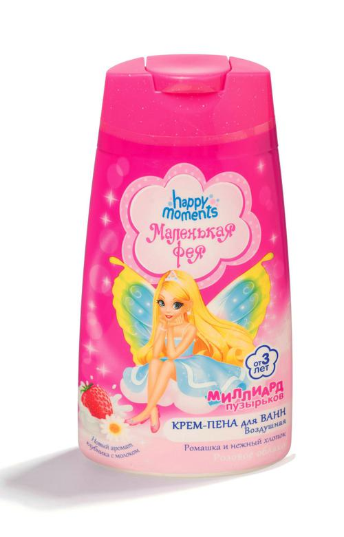 """Воздушная крем-пена для ванн """"розовое облако"""" маленькая фея"""