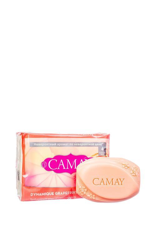 """описание Camay твердое мыло """"Динамик грейпфрут"""" 4 х 75 гр"""