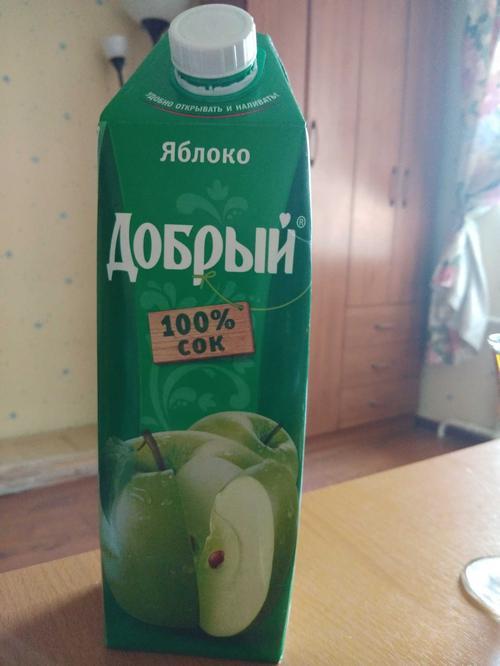 отзыв Сок Добрый яблочный, 1л.