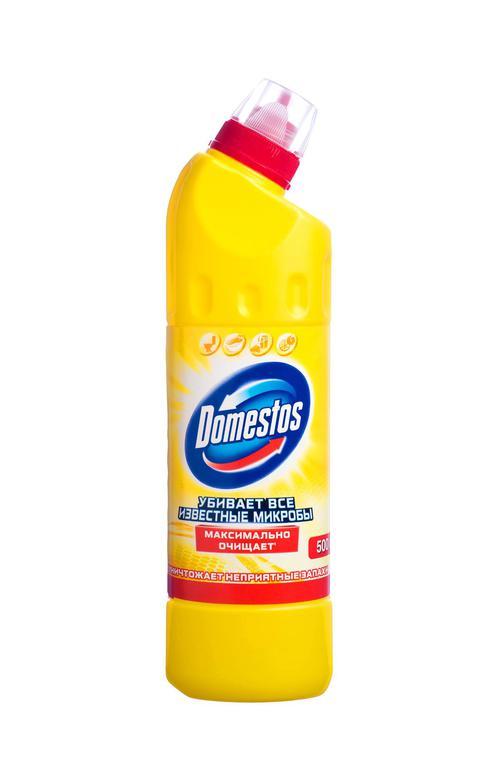 """Универсальное чистящее средство """"DOMESTOS"""" Лимонная свежесть, 500 мл."""