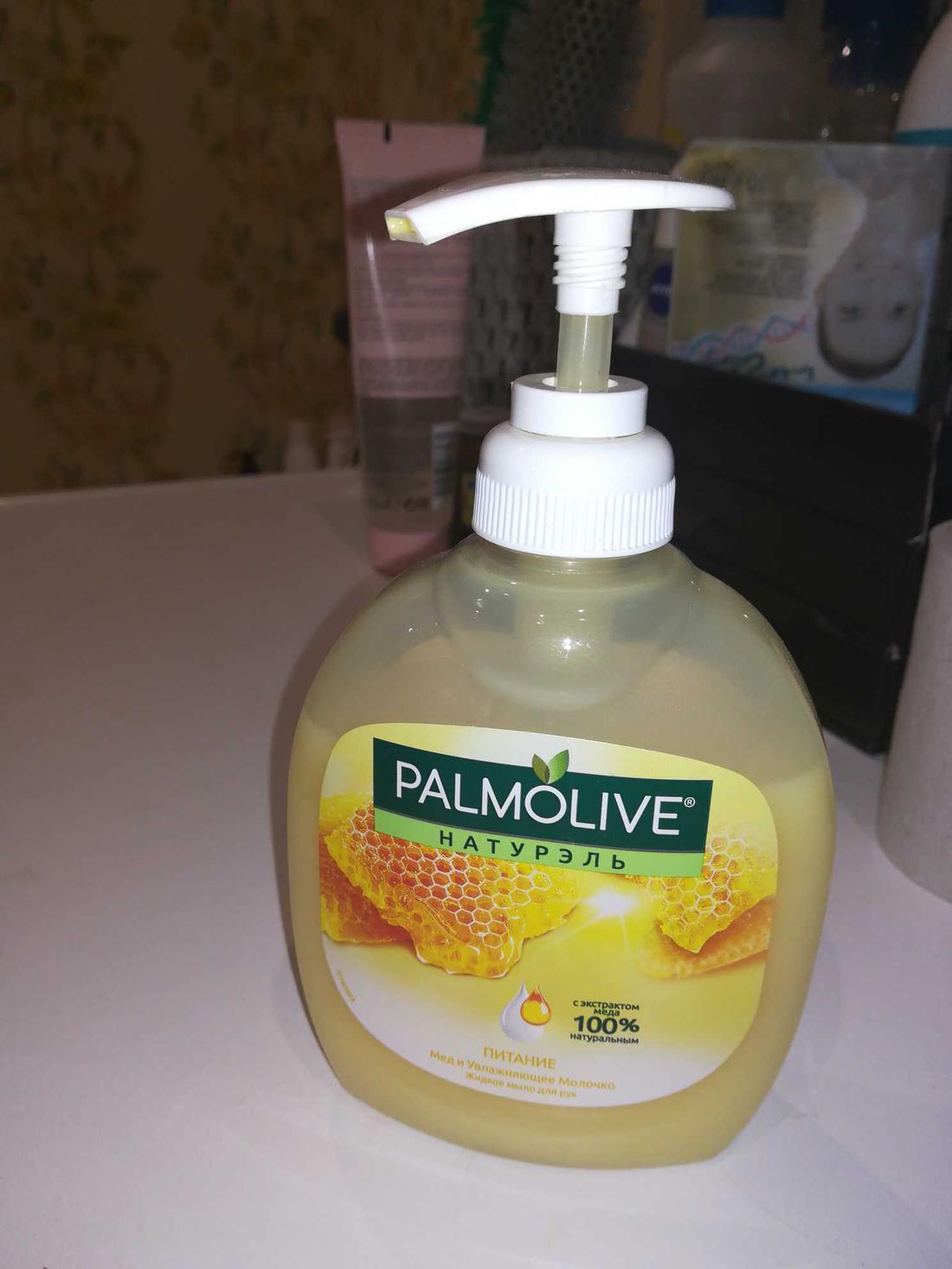 """отзыв Мыло Palmolive """"Питание Мед и увлажняющее молочко"""" жидкое"""