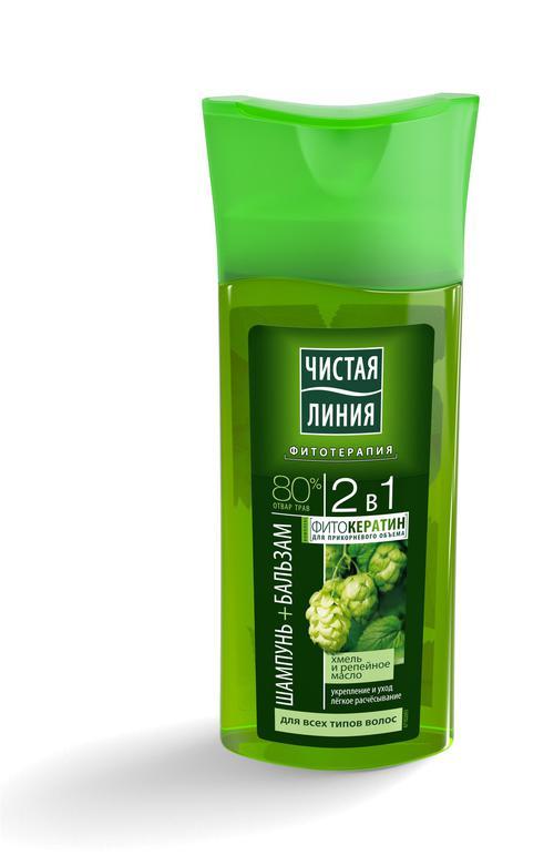 отзыв Шампунь 2в1 на отваре целеб трав с экстрактом хмеля и репейным маслом для всех типов волос