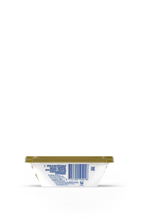 """Крем растительно-творожный пастеризованный """"Крем Бонжур с творогом и маринованными огурчиками"""", 200г"""