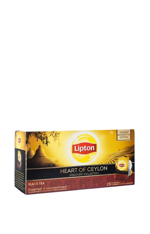 Чай Lipton Discovery Heart of Ceylon, черный, 25 пакетиков