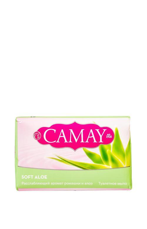 описание Мыло туалетное Camay Soft Aloe Нежное алоэ, 85гр.