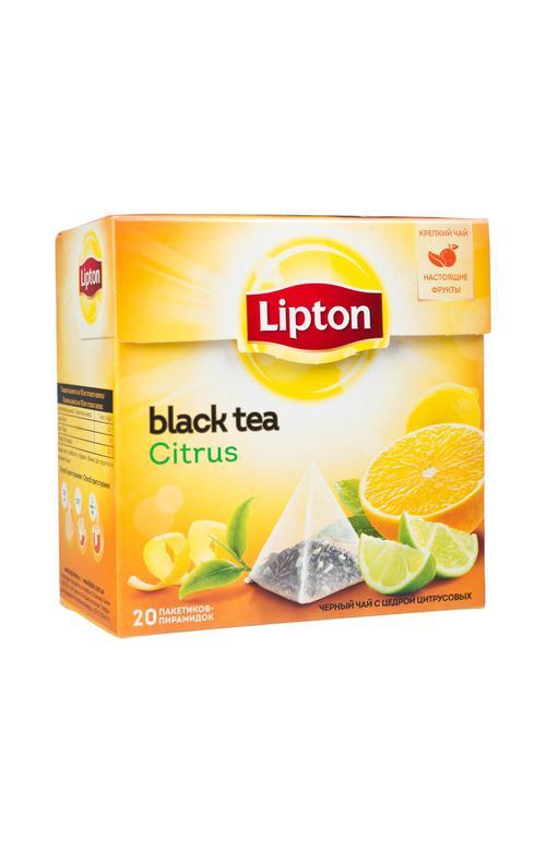 отзыв Чай черный Lipton Citrus байховый ароматизированный с цедрой цитрусовых, 20пак.
