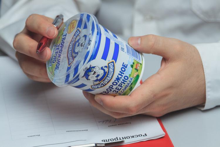 Продукт творожный Простоквашино, творожное зерно в сливках 7%