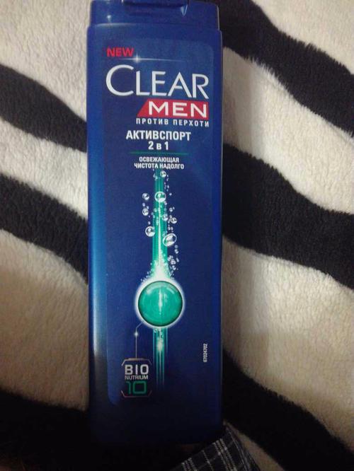фото2 Шампунь против перхоти для нормальных волос и кожи головы Clear Vita ABE Men Активспорт  2в1, Освежающая чистота на долго, формула с витаминами и минералами, 400мл.