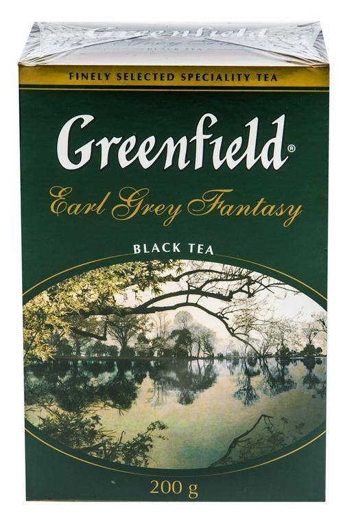 Чай Greenfield Earl Grey Fantasy чёрный листовой с ароматом бергамота с растительными компонентами