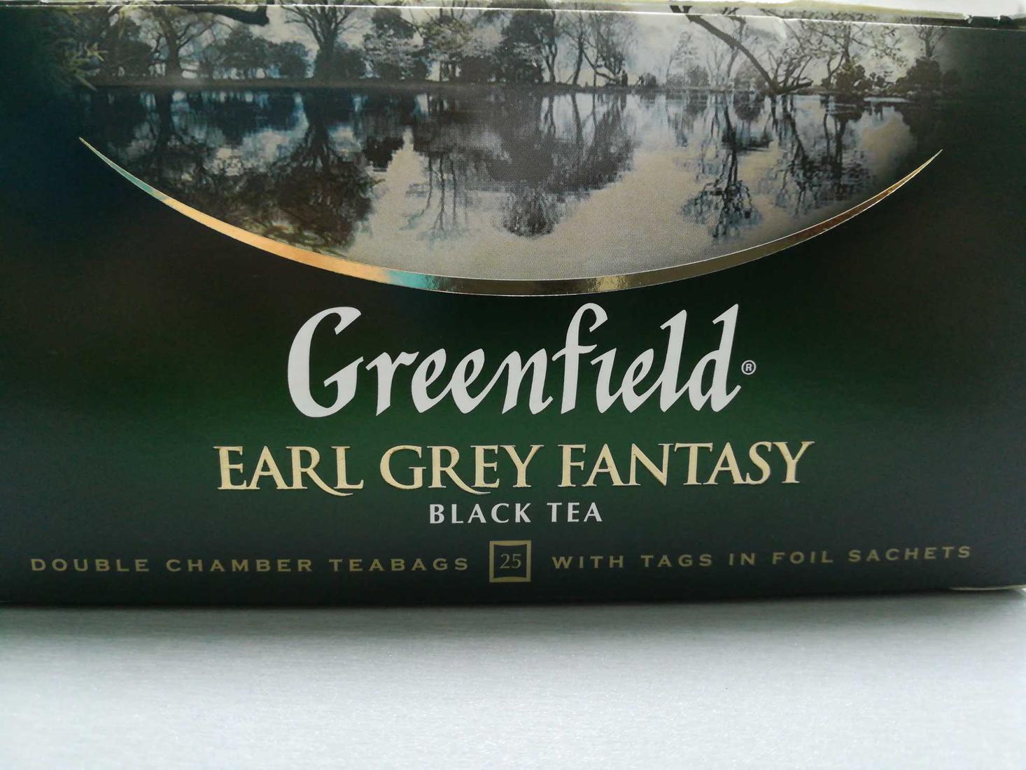 фото5 Чай черный байховый Гринфилд Эрл Грей Фэнтази в пакетиках
