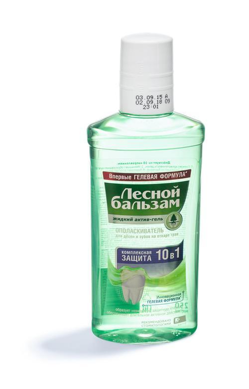 отзыв Лесной бальзам жидкий актив-гель ополаскиватель для десен и зубов на отваре трав