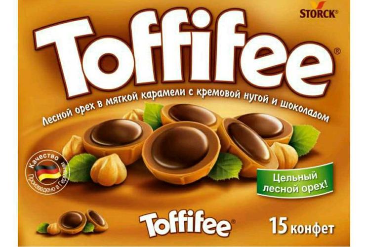 """фото3 Конфеты """"Тоффифи"""" (Toffifee) Лесной Орех в карамельной чашечке с нугой и шоколадом, 125гр."""
