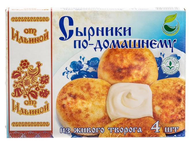 """Сырники """"от Ильиной"""" замороженные"""