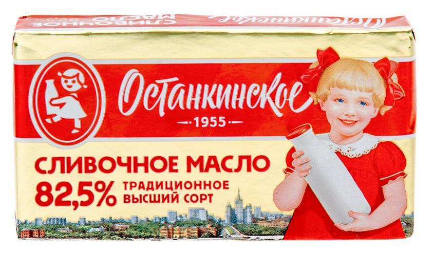 Масло сливочное традиционное. Массовая доля жира 82.5%