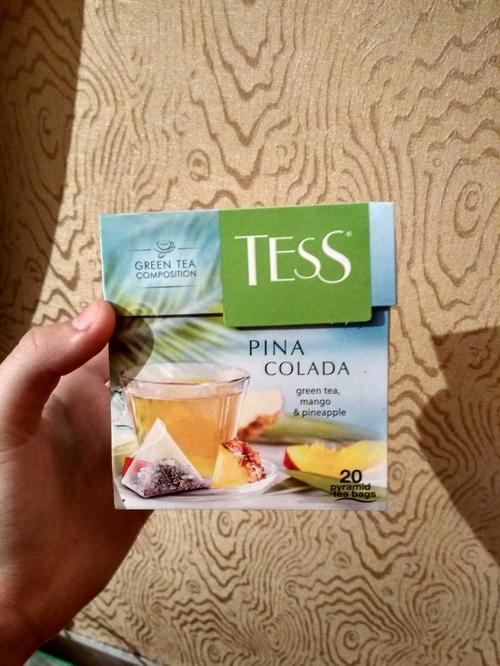цена Чай зеленый байховый Тесс Пина Колада в пакетиках