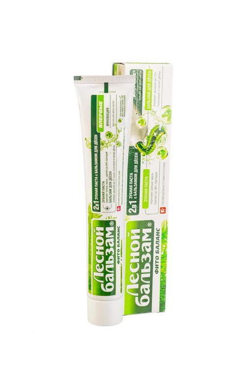 описание Зубная паста лесной бальзам с бальзамом для десен 2 в 1