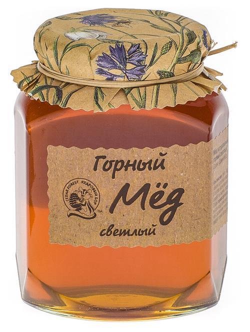 Мёд натуральный цветочный горный светлый
