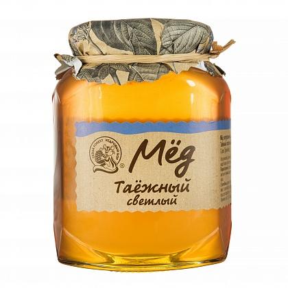Мёд натуральный цветочный таёжный светлый