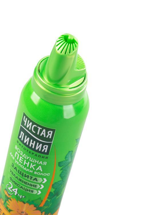 отзыв Пенка для укладки волос чистая линия термозащита