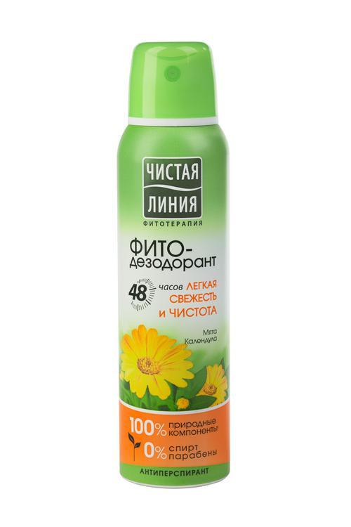 Антиперспирант аэрозоль фитодезодорант чистая линия легкая свежесть и чистота