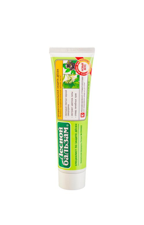 цена Зубная паста ТМ Лесной бальзам - Профессиональная защита десен Черная смородина липа и травы 100мл