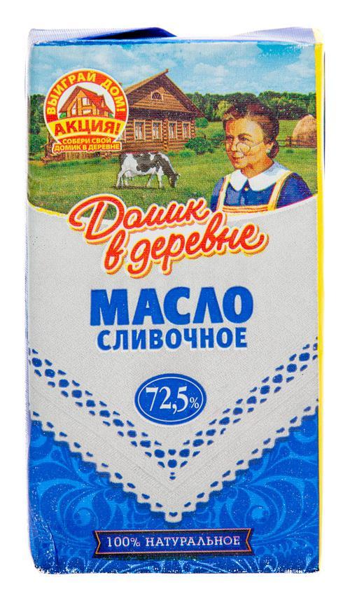 """Сливочное масло """"Домик в деревне"""" 72,5%"""