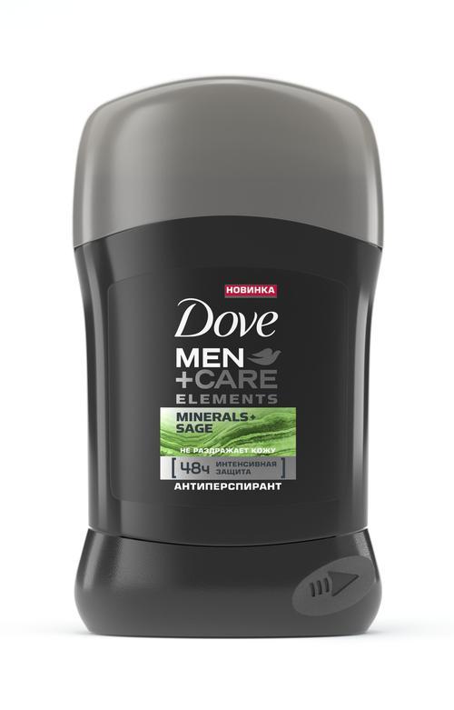 """описание Dove Men+Care антиперспирант карандаш """"Свежесть минералов и шалфея"""", 50 мл"""