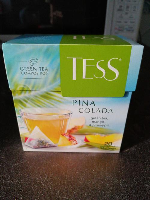 описание Чай зеленый байховый Тесс Пина Колада в пакетиках